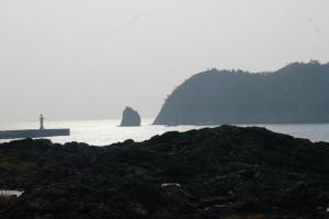 on the coast