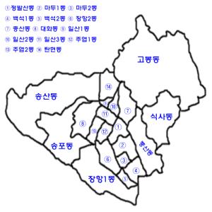 Korea-Goyang-si-Ilsan-gu-map